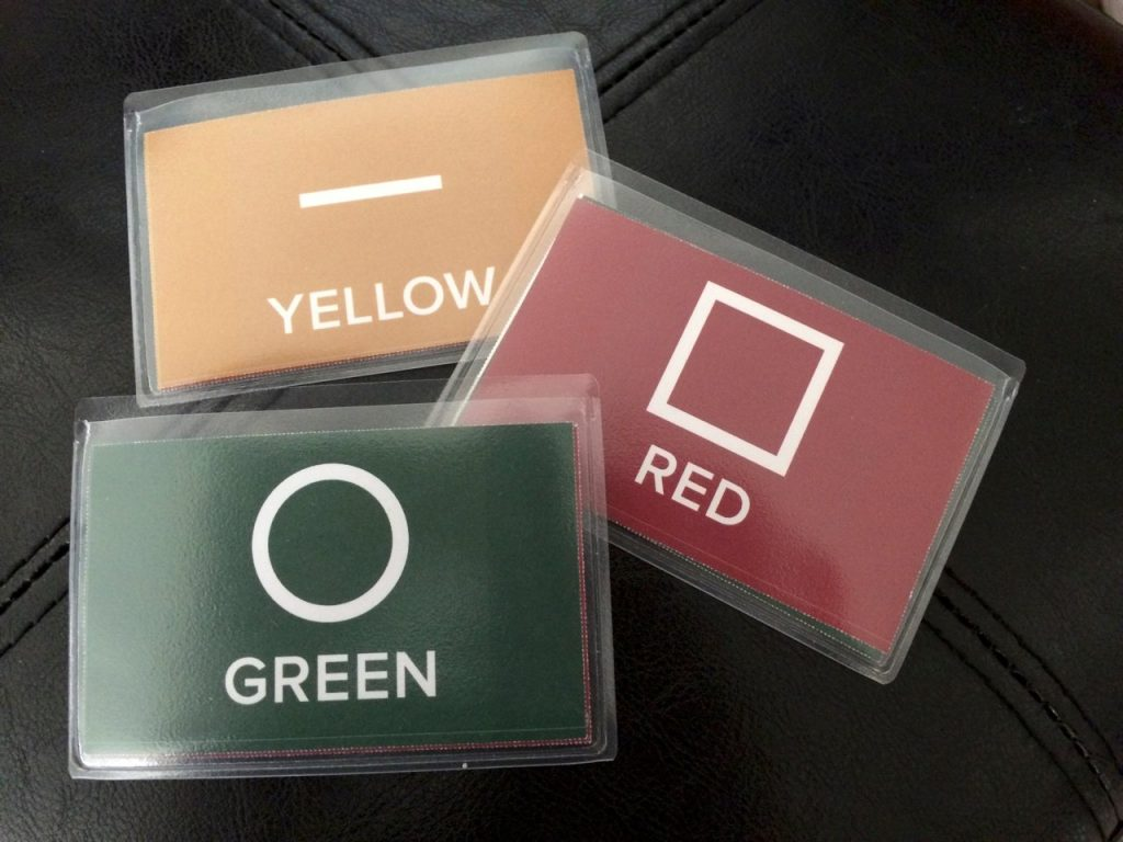 Color Communications Badges